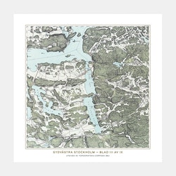 Trakten runt Stockholm, blad 3 – 1861 – Spoil Art-variant
