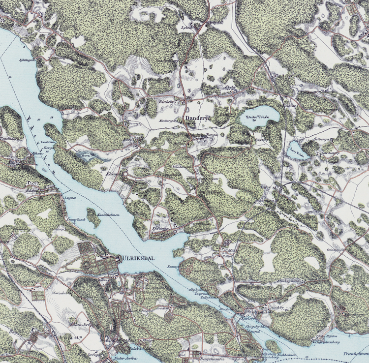 Trakten runt Stockholm, blad 4 – 1861 – Spoil Art-variant