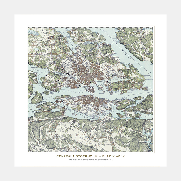 Trakten runt Stockholm, blad 5 – 1861 – Spoil Art-variant