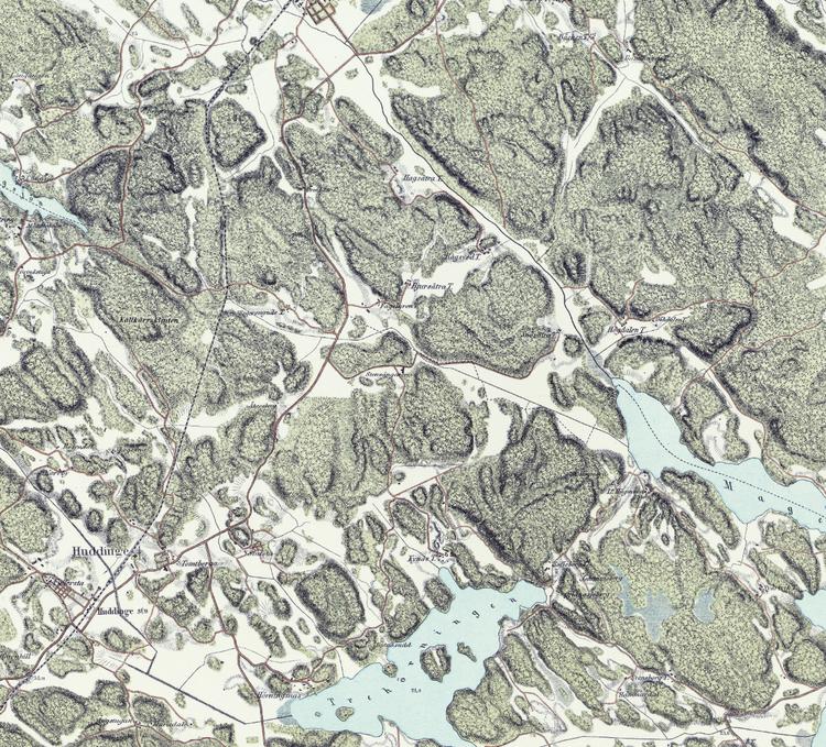 Trakten runt Stockholm, blad 6 – 1861 – Spoil Art-variant