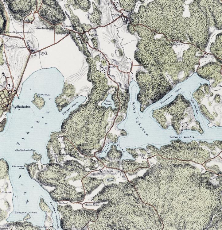 Trakten runt Stockholm, blad 7 – 1861 – Spoil Art-variant