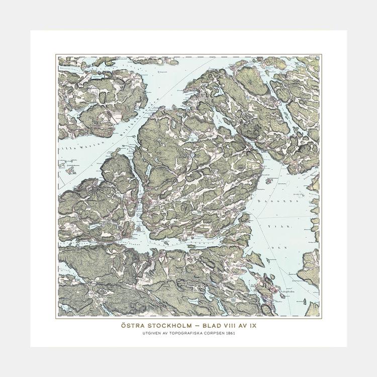 Trakten runt Stockholm, blad 8 – 1861 – Spoil Art-variant