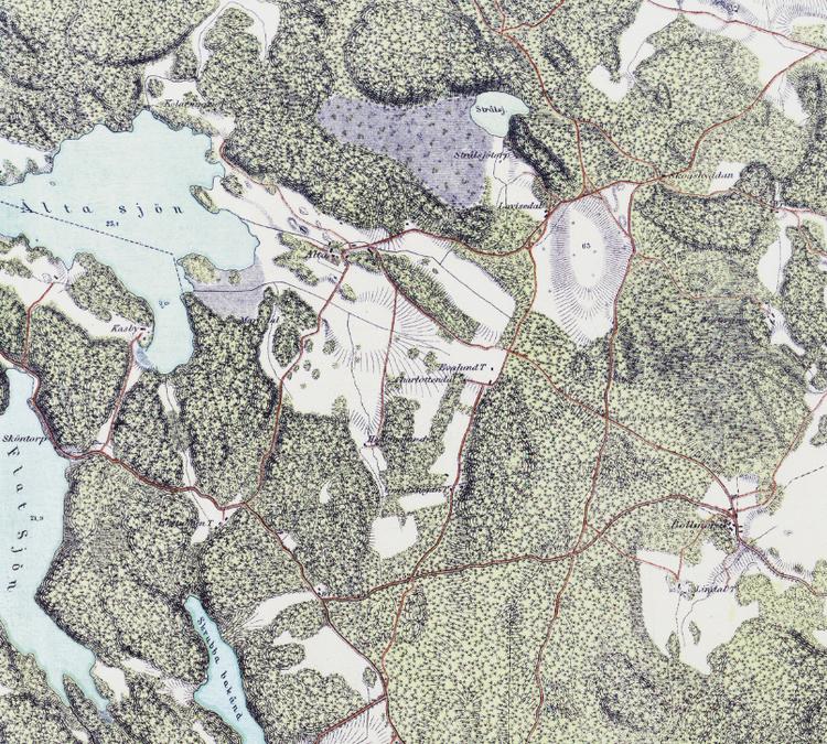 Trakten runt Stockholm, blad 9 – 1861 – Spoil Art-variant