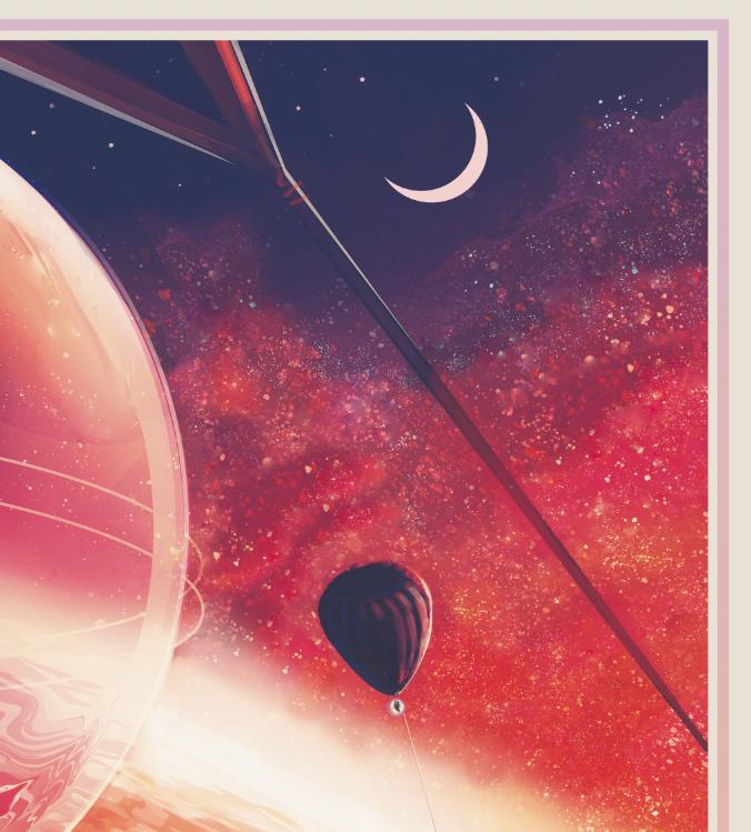 """Poster från NASA, """"Lava Life"""""""