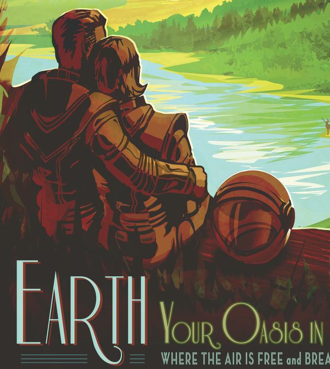 """Poster från NASA, """"Earth"""""""