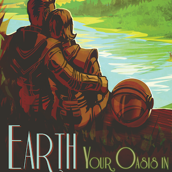 "Poster från NASA, ""Earth"""