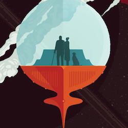"""Poster från NASA, """"Enceladus"""""""