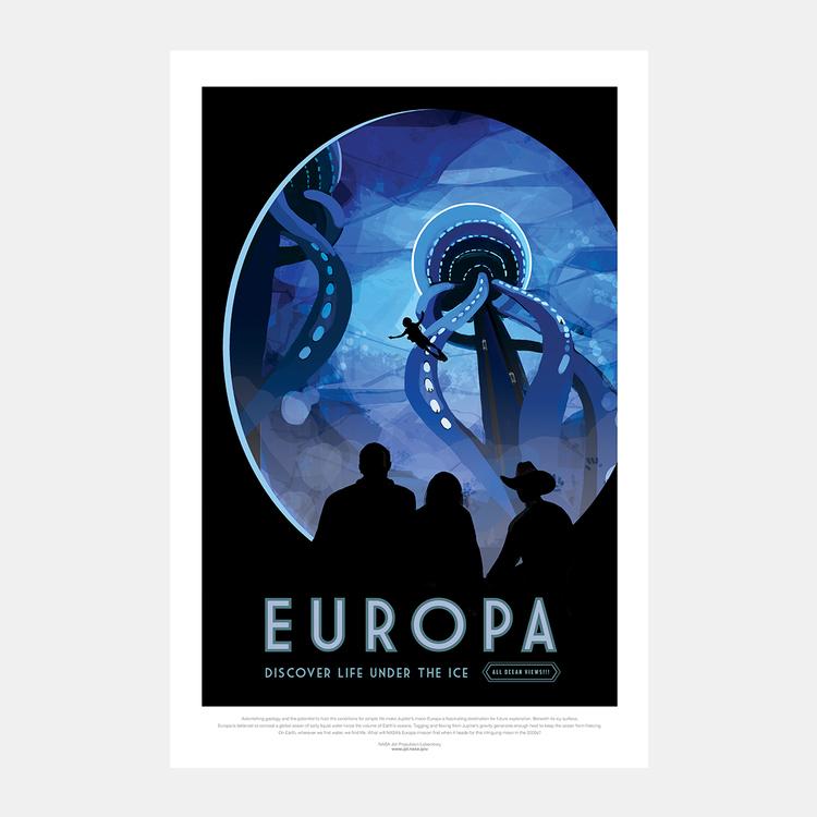"""Poster från NASA, """"Europa"""""""