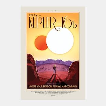 """Poster från NASA, """"Kepler-16b"""""""