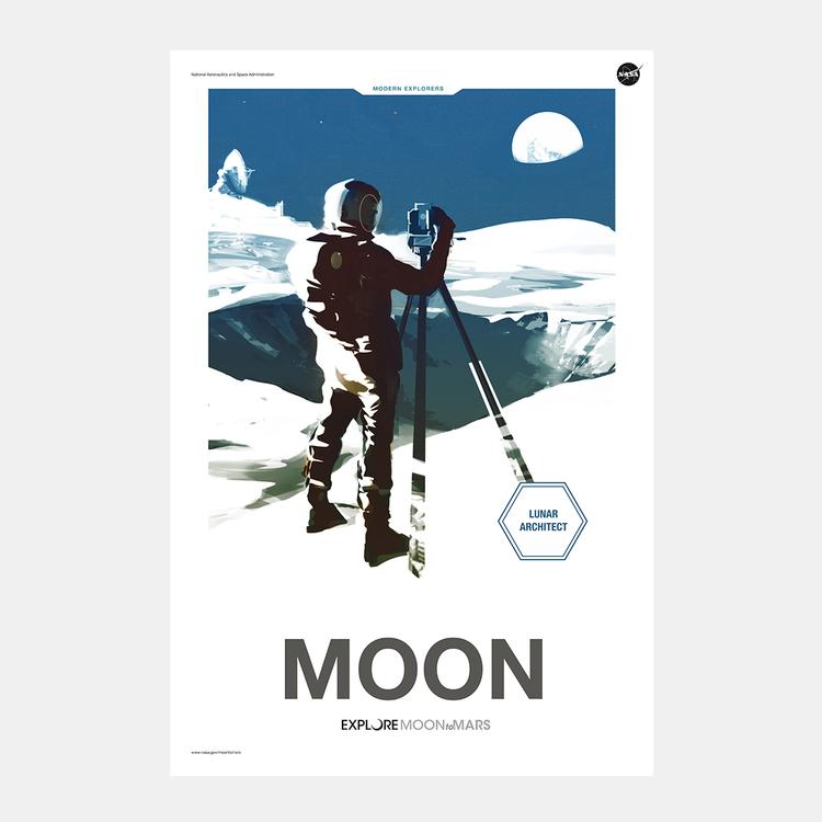 """Poster från NASA, """"Moon"""""""