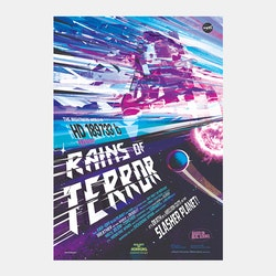 "Poster från NASA, ""Rains of Terror"""