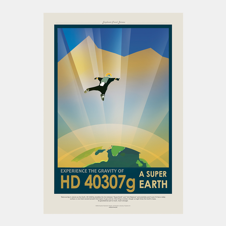 "Poster från NASA, ""HD 40307 g – Super Earth"""