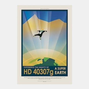 """Poster från NASA, """"HD 40307 g – Super Earth"""""""