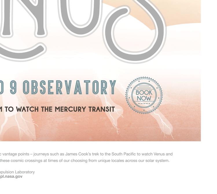 """Poster från NASA, """"Venus"""""""
