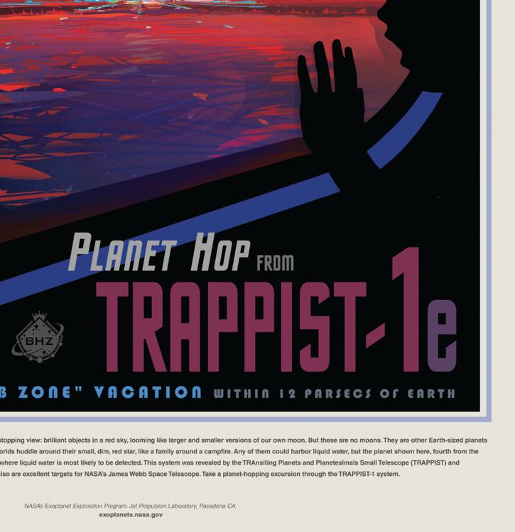 """Poster från NASA, """"Trappist"""""""