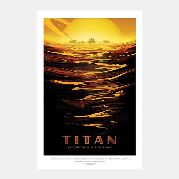 """Poster från NASA, """"Titan"""""""