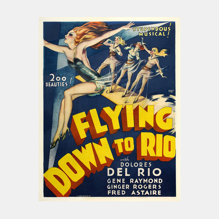Filmposter – Flying Down to Rio – 1933