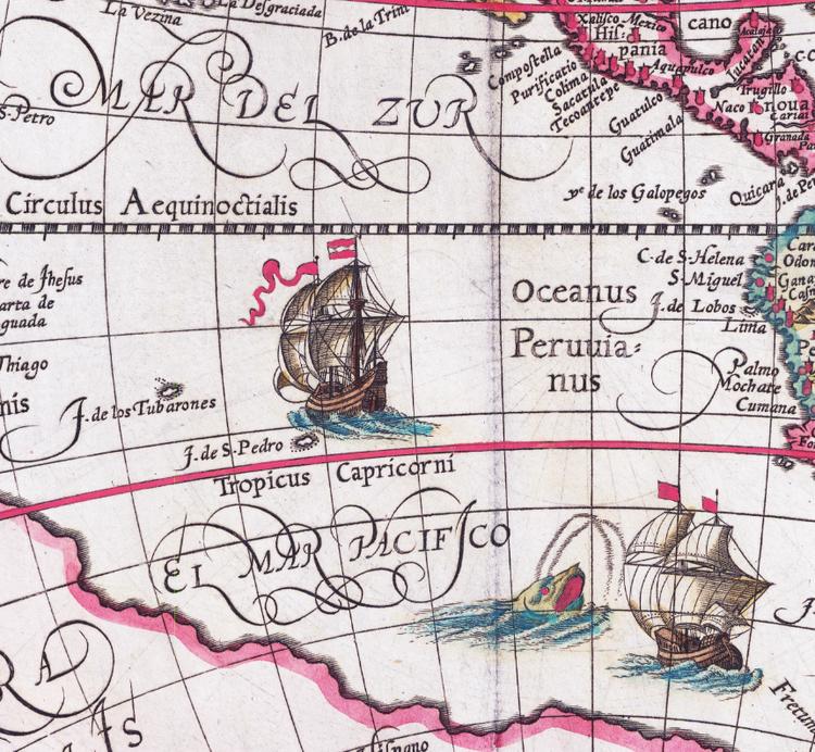 Världskarta – Orbis Terrae Compendiosa – 1596