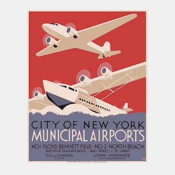 Poster – Municipal Airports – 1937