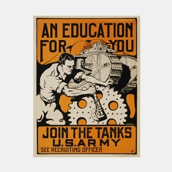 Poster – Join The Tanks, U.S. Army – 1919