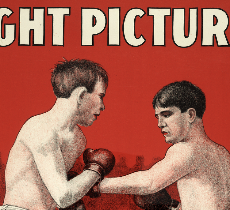Filmposter – Wolgast–Nelson, Fight Pictures – 1910