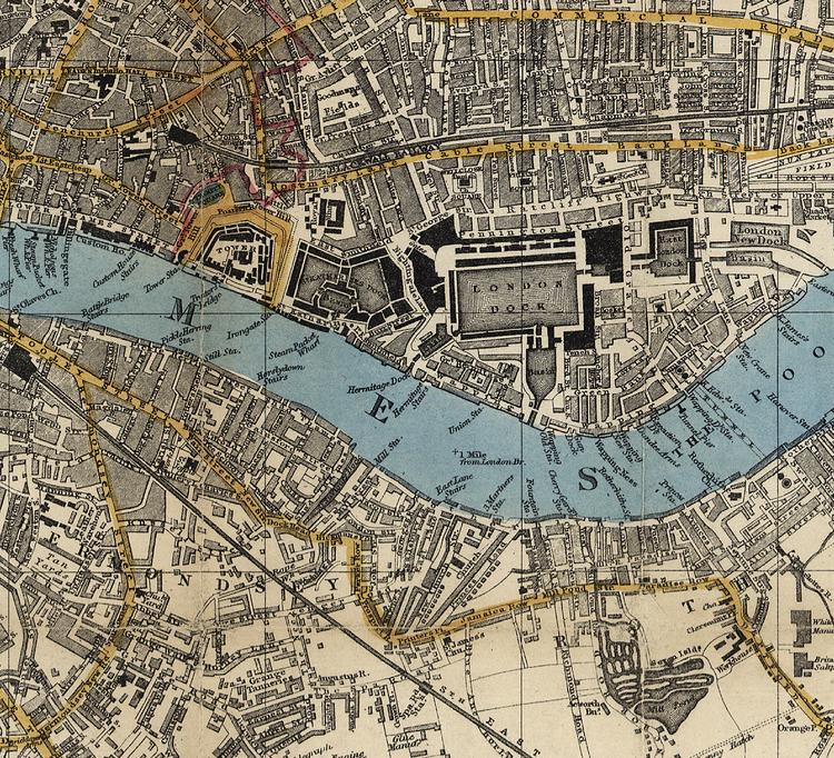 Karta – Smith's New Map of London – 1860