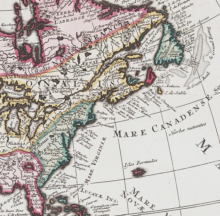 Karta – Nord- och Sydamerika – 1735
