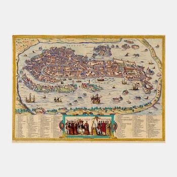 Karta/bild – Venedig, Italien – 1572