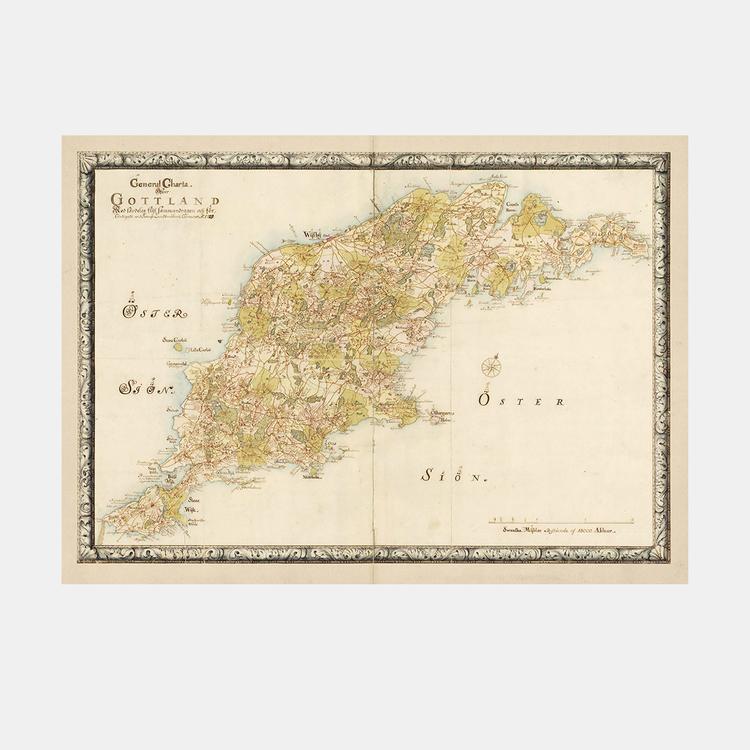 Karta – Gotland – 1729