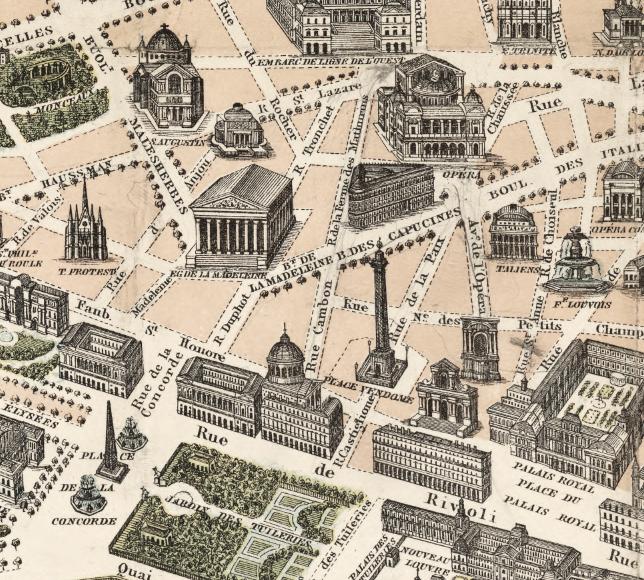 Karta/bild – Nouveau Paris Monumental – 1878