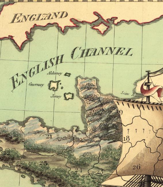 Karta/bild – Frankrike – 1795