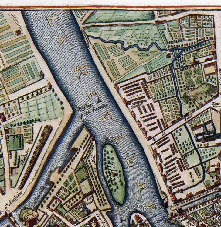 Karta – Paris – 1657