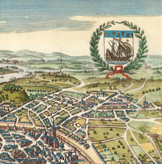 Karta/bild – Paris – 1655