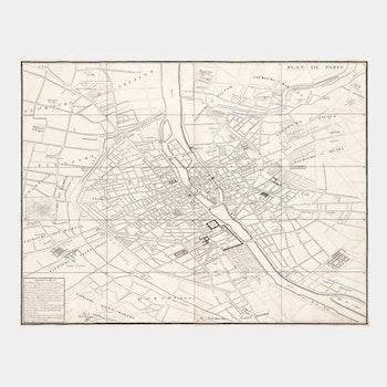 Stilren karta – Paris – 1739