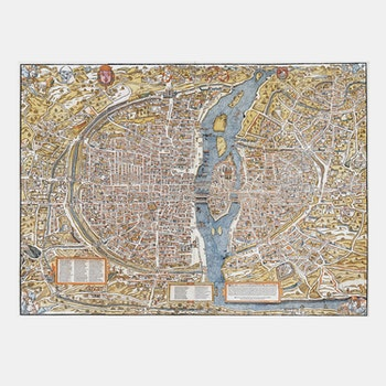 Karta – Plan de Paris – 1550