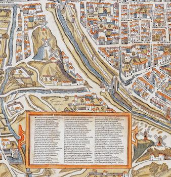 Karta – Plan de Paris – 1550