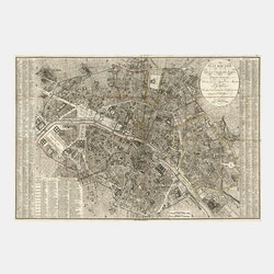 "Karta – ""Plan Routier, Paris"" – 1823"