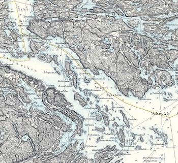 Karta – Blad 76 Vaxholm – 1877