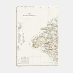 Karta – Värmdö Skeppslag – västra – 1907