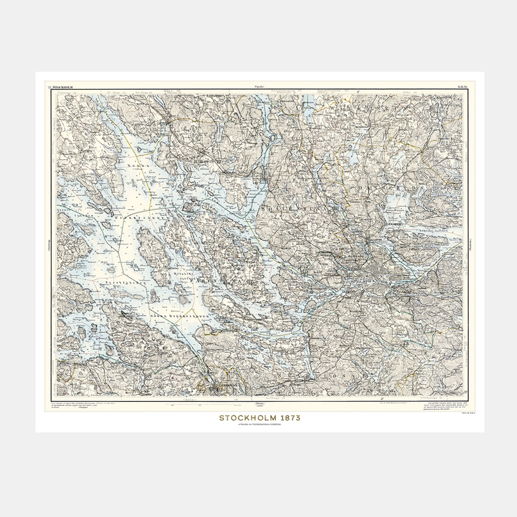Karta – Stockholm – 1873