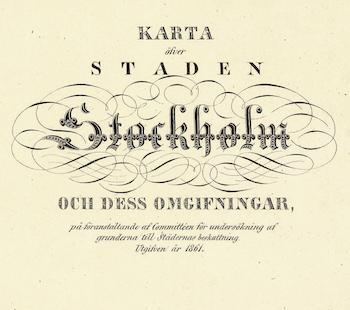 Karta – Stockholm – 1861