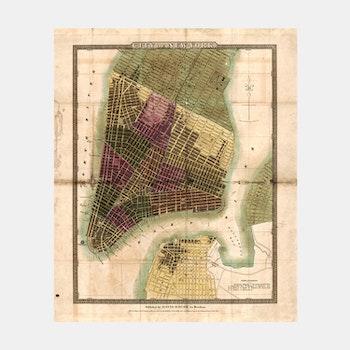 Karta – New York – 1832