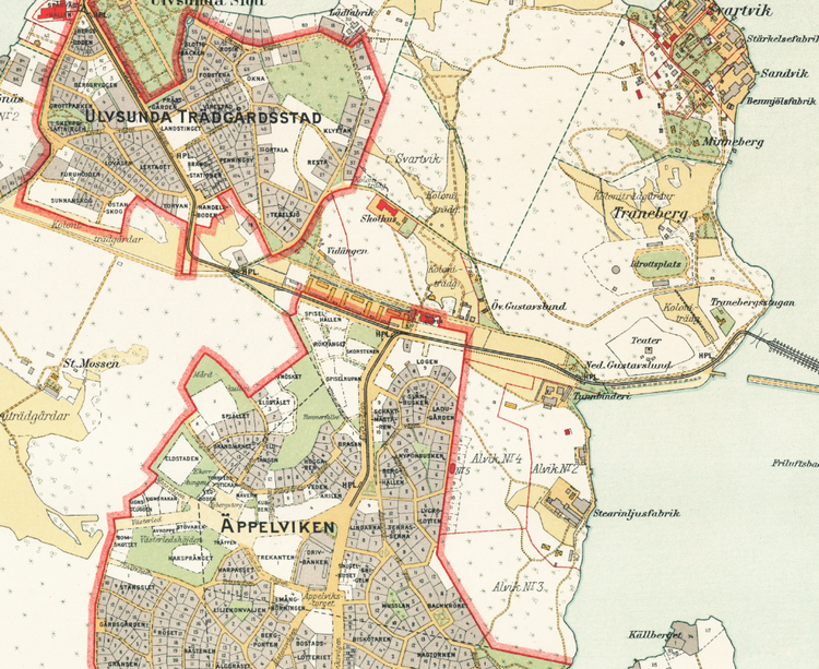 Stockholm med omnejd – Äppelviken – 1917–1922