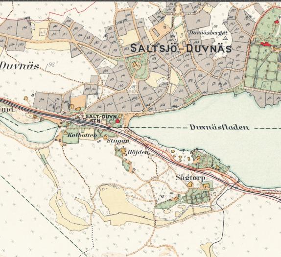 Stockholm med omnejd – Duvnäs – 1917–1922