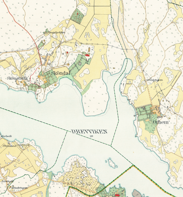 Stockholm med omnejd – Sköndal – 1917–1922