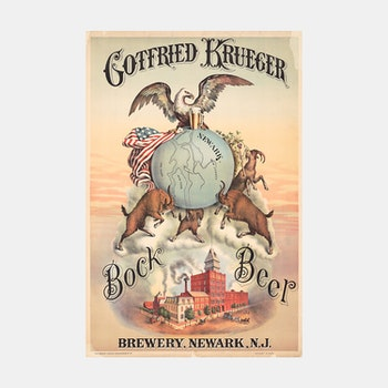 Reklamposter – Bock Beer – 1886