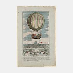 Bildkonst – Ballongfärd, Paris – 1886