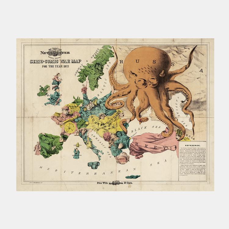 Karta – Serio-Comic War Map, satir – 1877