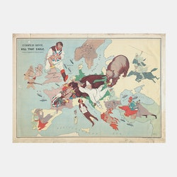 Karta – Europa, Kill that Eagle, satir – 1914