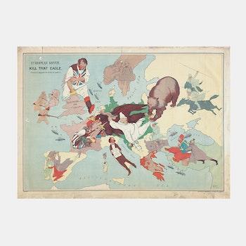 Karta – Europa, Kill that Eagle, satir – 1914